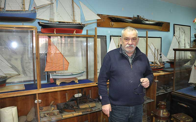 Željko Skomeršić, izdelovalec ladijskih maket