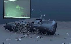Podmornico našli na globini 838 metrov