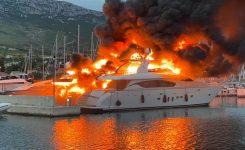 Požar v Marini Kaštela