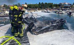 V Medulinu zgorelo 6 plovil