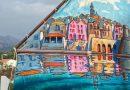 Korčulanska gajeta s poslikanim jadrom